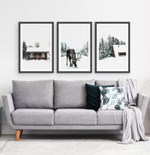 Load image into Gallery viewer, Three photo prints with winter landscapes 2
