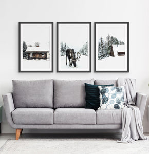 Three photo prints with winter landscapes 2