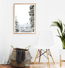 Load image into Gallery viewer, Wood-framed Covered In Snow Forest Clearing Wall Art