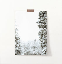Load image into Gallery viewer, Covered In Snow Forest Clearing Wall Art