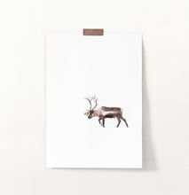 Load image into Gallery viewer, Deer Walking Through White Nowhere Photo Print