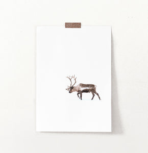 Deer Walking Through White Nowhere Photo Print