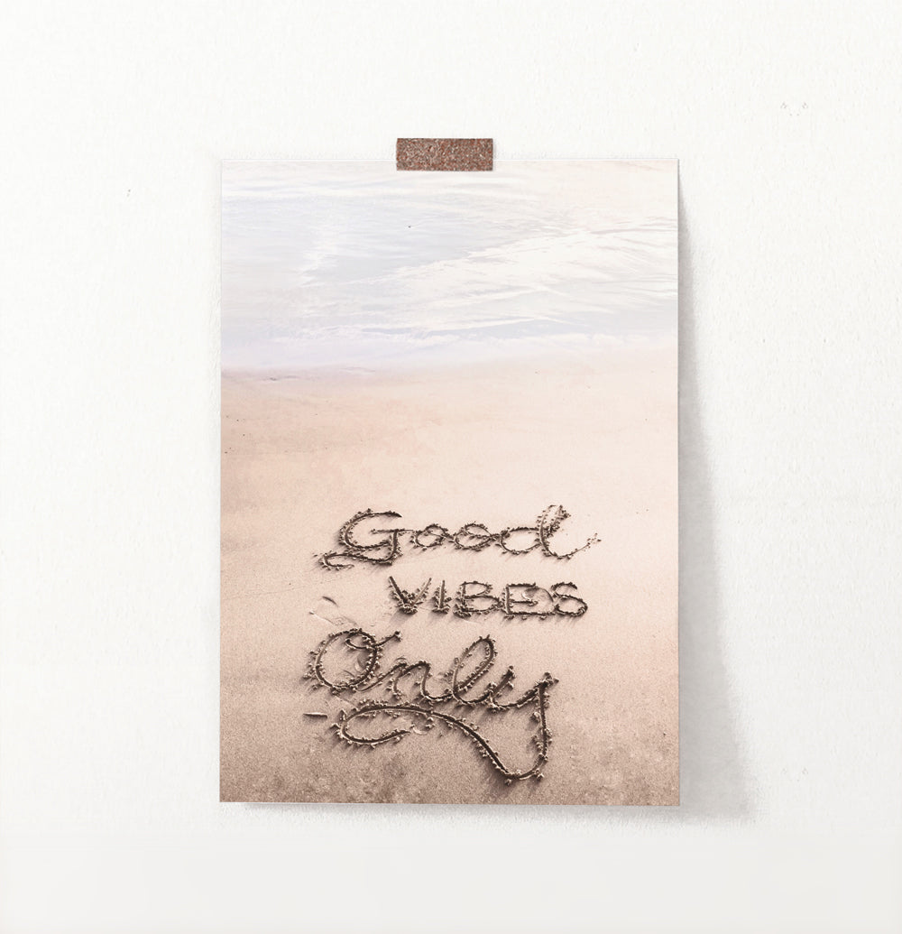 Positive Vibes Only Beach Wall Art