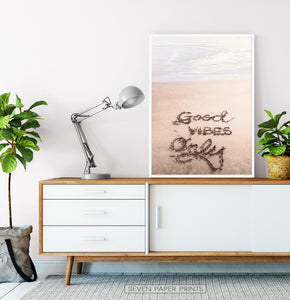 Good Beach Vibes Large Wall Print
