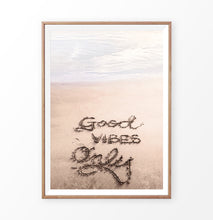 Load image into Gallery viewer, Good Vibes Only Quote on the Beach Sand Art