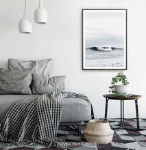 Load image into Gallery viewer, High Ocean Waves Surf Photography on Sofa