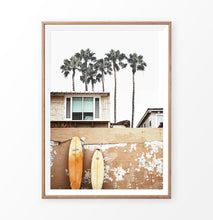 Load image into Gallery viewer, Surfer Beach Surfboard on the wall