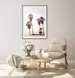 Beach Palm Decor For Beige Walls