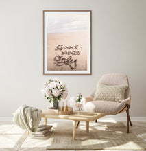 Load image into Gallery viewer, Sand Signs on The Beach Wall Print