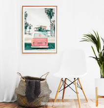 Load image into Gallery viewer, Beach Poster Art with Retro VW Bus