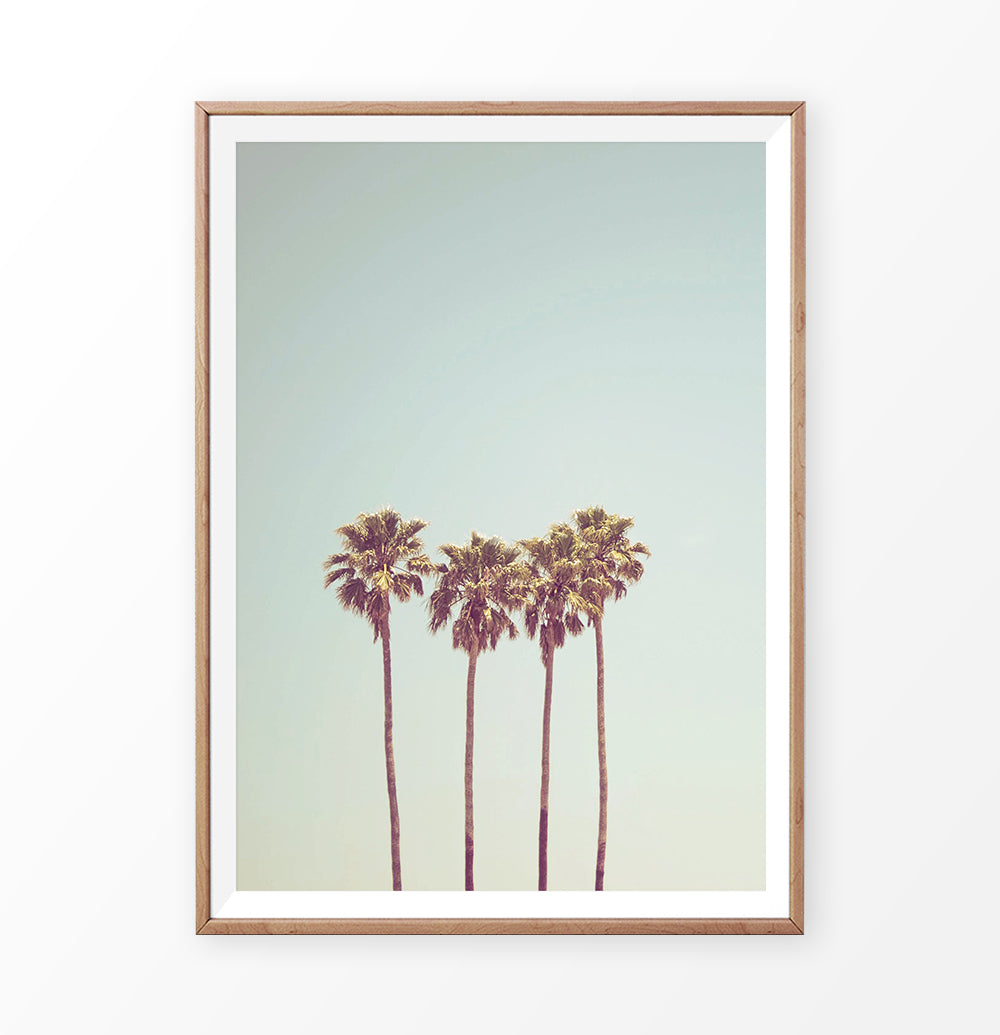 Vintage Style Poster with Palm Trees