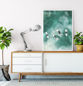 Vertical Print. Surfing Wall Decor