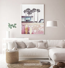 Load image into Gallery viewer, Beach House with Surfboards Wall Art