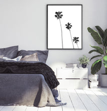 Load image into Gallery viewer, Black and White Coastal Palm Trees Wall Art