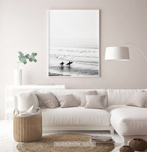 Load image into Gallery viewer, Surfers Walking on Seaside Print