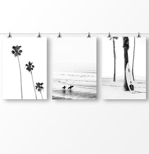 Black and White Tree, Black and White Wall Art, Set of 3 Digital Prints