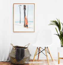 Load image into Gallery viewer, Black and White Retro Surfboard Wall Art