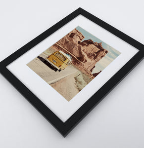 A framed photo print of a Great Canyon miniwan