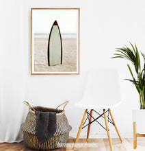 Load image into Gallery viewer, Surfboard Erected on the Beach Sand Wall Art
