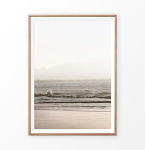 Sunset Sea and Beach Photography Print