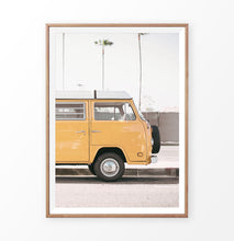 Load image into Gallery viewer, Yellow Travel Van Photo Print