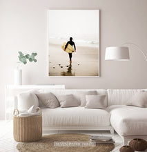 Load image into Gallery viewer, Surfer Walking Alone on the Seaside Print