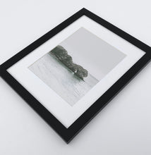 Load image into Gallery viewer, A framed photo print with a rock in the ocean