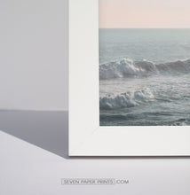 Load image into Gallery viewer, Ocean Against Light Pink Sky 3 Pieces Framed Gallery Wall