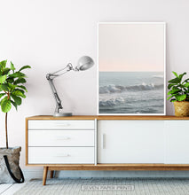 Load image into Gallery viewer, California Ocean Waves Sunset Print