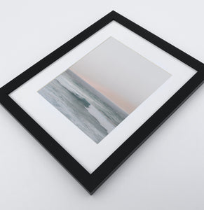 Ocean Against Light Pink Sky 3 Pieces Framed Gallery Wall