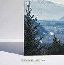 Load image into Gallery viewer, Blue forest in the mountains landscape. 3 piece canvas #208