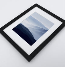 Load image into Gallery viewer, A Framed Print of a Foggy Mountain Landscape 3
