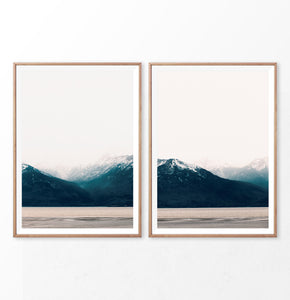 Mountain diptych. Set of 2 nordic nature prints