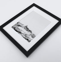 Load image into Gallery viewer, A photo print of snowy mountains