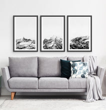 Load image into Gallery viewer, Three photo prints of snowy mountains 1