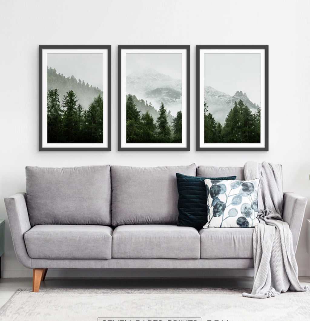 Three photo prints of a forest 1