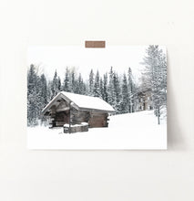Load image into Gallery viewer, Winter Barn Standing On Snowy Land Wall Art