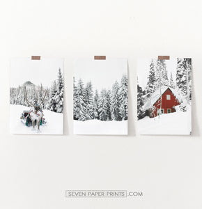 Christmas Decoration Gallery Set of 3 Piece Wall Art