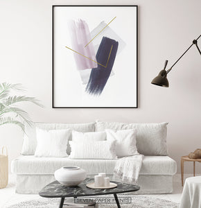 Abstract wall art for light living room