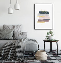 Load image into Gallery viewer, Scandinavian Interior with Abstract Wall Art