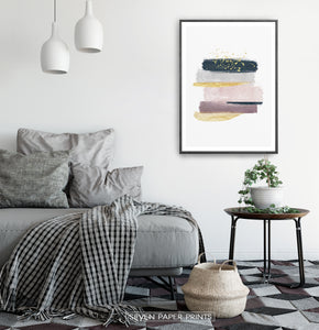 Scandinavian Interior with Abstract Wall Art