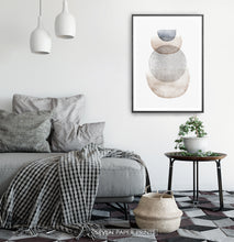 Load image into Gallery viewer, Abstract Geometric Painting in Scandinavian Interior