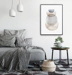 Abstract Geometric Painting in Scandinavian Interior