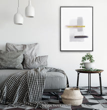 Load image into Gallery viewer, Scandinavian Abstract Print with Gold for Living Room