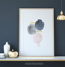 Load image into Gallery viewer, Tender abstract painting with golden lines