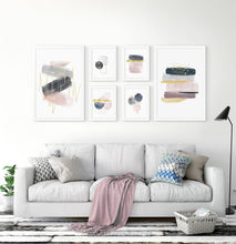 Load image into Gallery viewer, Abstract Art 6 Piece Gallery Wall. Framed or Unframed Prints