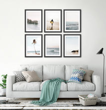 Load image into Gallery viewer, Black-framed with gray sofa