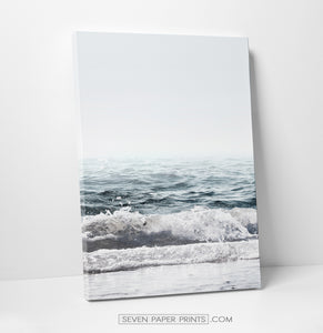 Blue ocean coastal set of 3 canvas prints #269