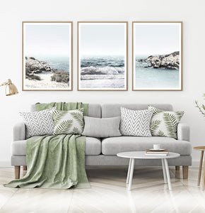 Rocky Bach Set of 3 Prints Above the Sofa