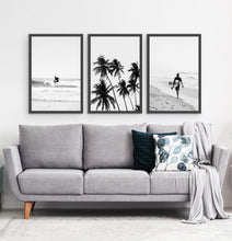 Load image into Gallery viewer, 3 beach monochrome photos